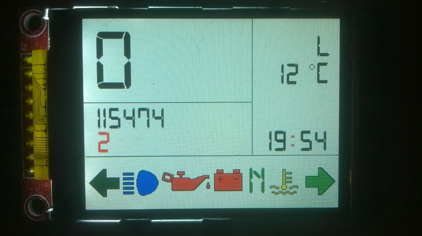 BMW K100 Tacho LCD Display